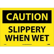 Caution, Slippery When Wet, 10X14, Adhesive Vinyl