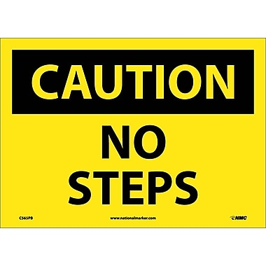 Caution, No Steps, 10X14, Adhesive Vinyl