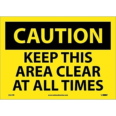 Caution, Keep This Area Clear At All Times, 10