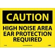 Caution, High Noise Area Ear Protection Required, 10X14, Adhesive Vinyl