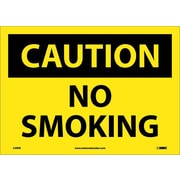 Caution, No Smoking, 10X14, Adhesive Vinyl