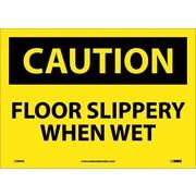 Caution, Floor Slippery When Wet, 10X14, Adhesive Vinyl