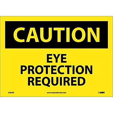 Caution, Eye Protection Required, 10