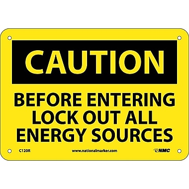 Caution, Before Entering Lock Out All Energy Sources, 7