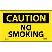 Caution, No Smoking, 3X5, Adhesive Vinyl, 5Pk
