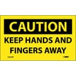 Caution, Keep Hands And Fingers Away, 3X5, Adhesive Vinyl 5/Pk