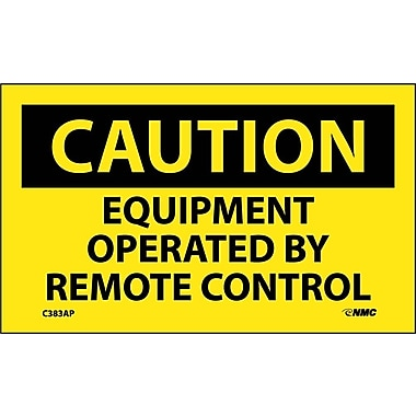 Caution, Equipment Operated By Remote Control, 3