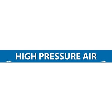 Pipemarker, High Pressure Air, 1X9, 1/2 Letter, Adhesive Vinyl