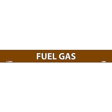 Pipemarker, Fuel Gas, 1X9, 1/2 Letter, Adhesive Vinyl