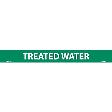 Pipemarker, Adhesive Vinyl, 25/Pack, Treated Water, 1