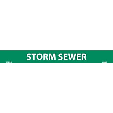 Pipemarker, Adhesive Vinyl, Storm Sewer, 1X9 1/2