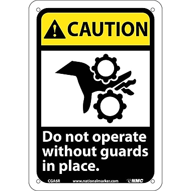 Caution, Do Not Operate Without Guards In Place with Graphic, 10