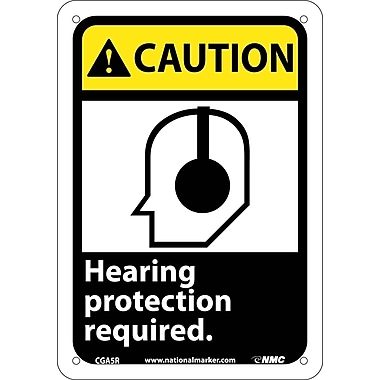 Caution, Hearing Protection Required with Graphic, 10