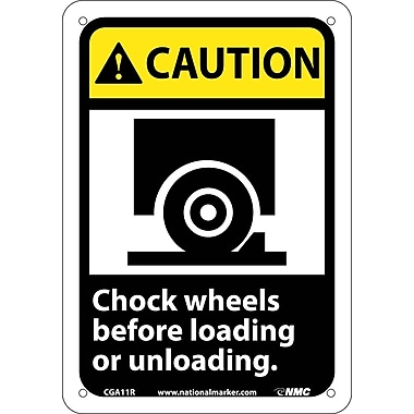 Caution, Chock Wheels Before Loading Or Unloading with Graphic, 10