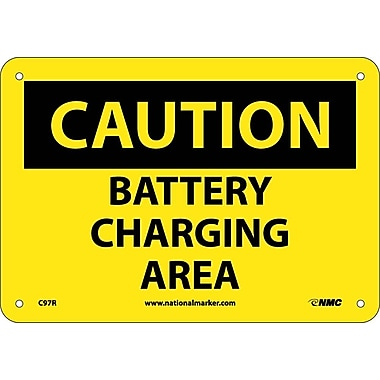 Caution, Battery Charging Area, 7