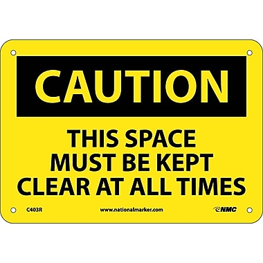 Caution, This Space Must Be Kept Clear At All..., 7