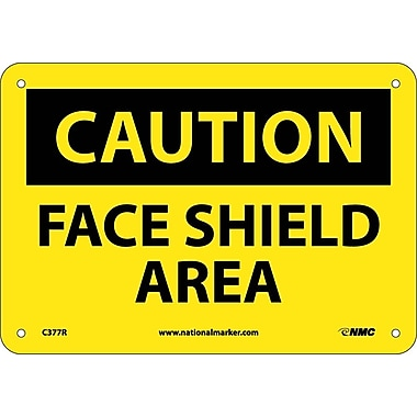 Caution, Face Shield Area, 7