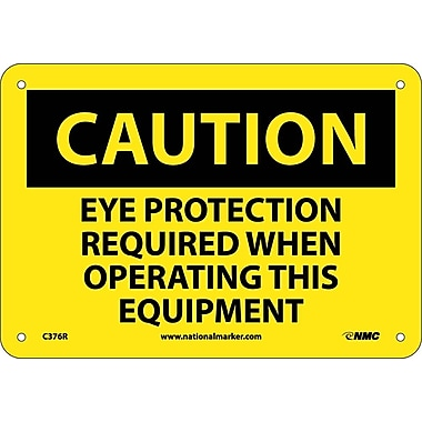 Caution, Eye Protection Required When Operating This Equipment, 7