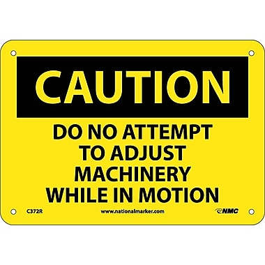 Caution, Do Not Attempt To Adjust Machinery While..., 7