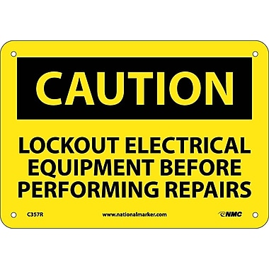 Caution, Lockout Electrical Equipment Before . . .., 7