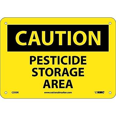 Caution, Pesticide Storage Area, 7