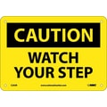 Caution, Watch Your Step, 7X10, Rigid Plastic