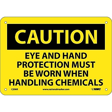 Caution, Eye And Hand Protection Must Be Worn When Handing Chemicals..., 7