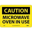 Caution, Microwave Oven In Use, 7X10, Rigid Plastic