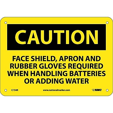 Caution, Face Shield Apron And Rubber Gloves Required, 7