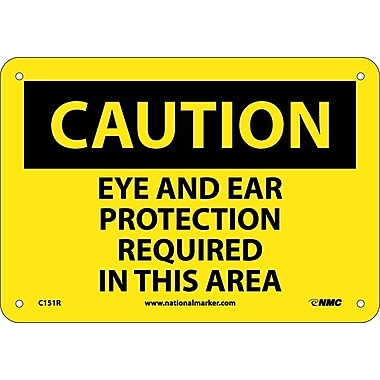 Caution, Eye And Ear Protection Required In This Area, 7