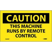 Caution, This Machine Runs By Remote Control, 3X5, Adhesive Vinyl 5/Pk