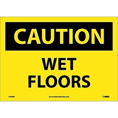 Caution, Wet Floors, 10X14, Adhesive Vinyl