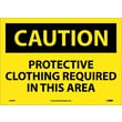 Caution, Protective Clothing Required In This. . ., 10X14, Adhesive Vinyl