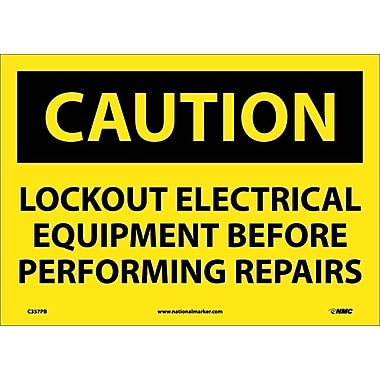 Caution, Lockout Electrical Equipment Before . . .., 10
