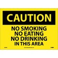 Caution, No Smoking No Eating No Drinking. . ., 10X14, Adhesive Vinyl