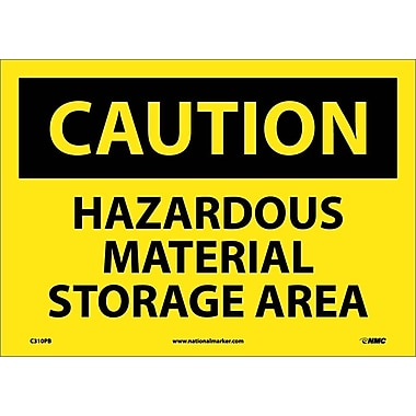 Caution, Hazardous Material Storage Area, 10