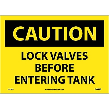 Caution, Lock Valves Before Entering Tanks, 10