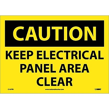 Caution, Keep Electrical Panel Area Clear, 14