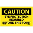 Caution Eye Protection Required Beyond This Point, 3X5, Adhesive Vinyl, 5/Pl