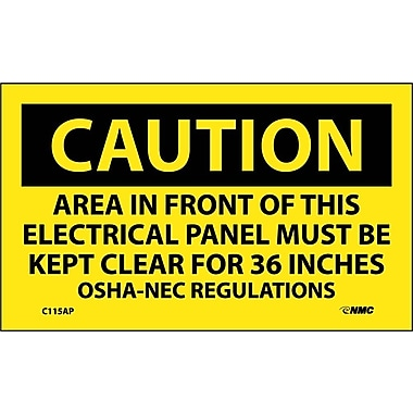Caution, Area In Front Of This Electrical Panel ..., 3