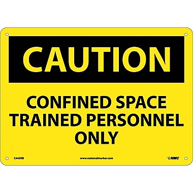 Caution, Confined Space Trained Personnel Only, 10