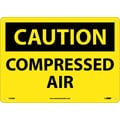 Caution, Compressed Air, 10X14, Rigid Plastic