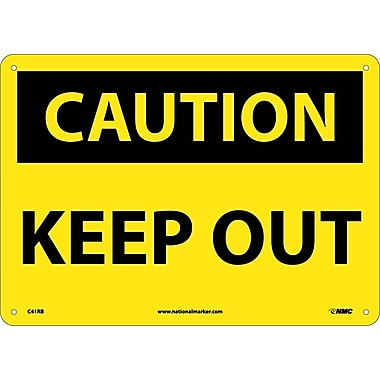 Caution, Keep Out, 10X14, Rigid Plastic