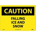 Caution, Falling Ice And Snow, 10X14, Rigid Plastic