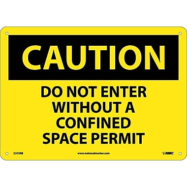 Caution, Do Not Enter Without A Confined Space Permit, 10