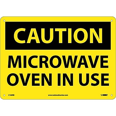 Caution, Microwave Oven In Use, 10X14, Rigid Plastic