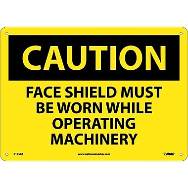 Caution, Face Shield Must Be Worn While Operating..., 10