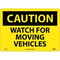 Caution, Watch For Moving Vehicles, 10X14, Rigid Plastic