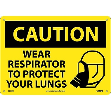Caution, Wear Respirator To Protect Your Lungs, Graphic, 10