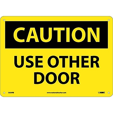 Caution, Use Other Door, 10X14, Rigid Plastic